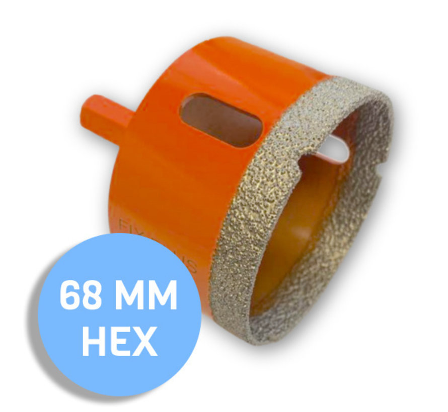 Fix Plus ® Tegelboor HEX Ø 68mm.