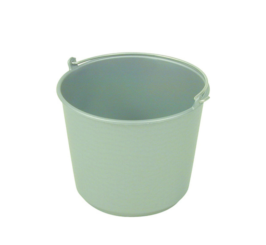 Bouwemmer grijs 12 liter