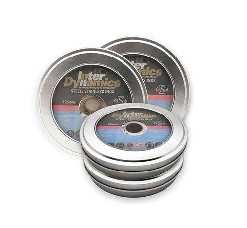 InterDynamics 10 st. InterDynamics Doorslijpschijf 125mm INOX 15 in Blik