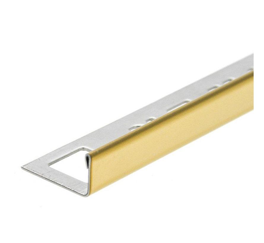 Tegelprofiel RVS recht Goud 11 mm