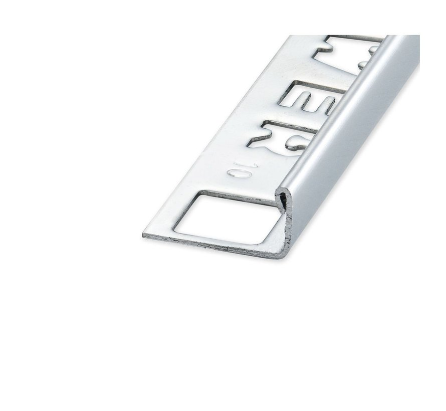 Tegelprofiel RVS recht hoogglans 6 mm