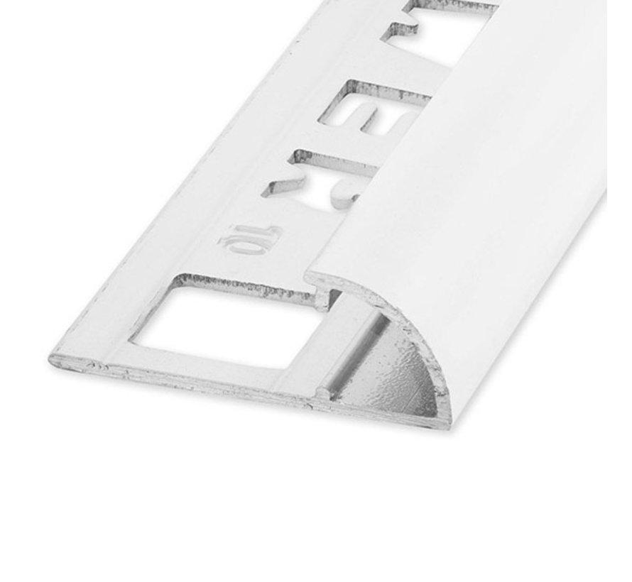Tegelprofiel RONDEX Alu rond wit 12,5 x 2700mm