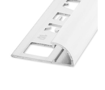 Ox Tegelprofiel RONDEX Alu rond wit 8 mm