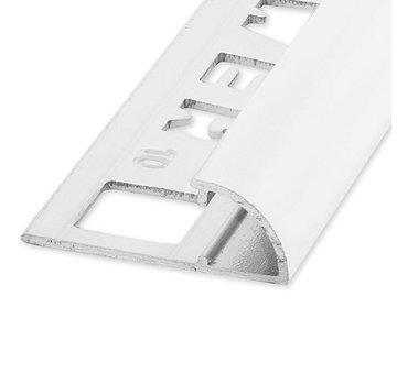 Ox Tegelprofiel RONDEX Alu rond wit 6 mm