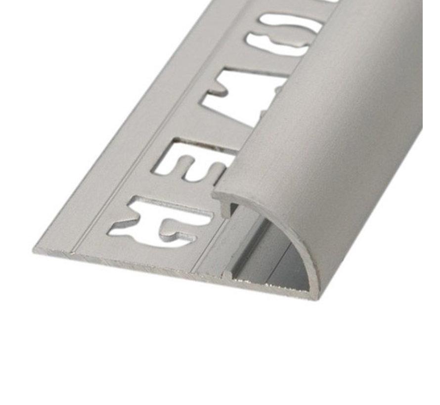 Tegelprofiel RONDEX Alu rond matzilver 10 x 2700mm