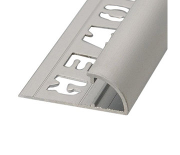 Ox Tegelprofiel RONDEX Alu rond matzilver 8 mm