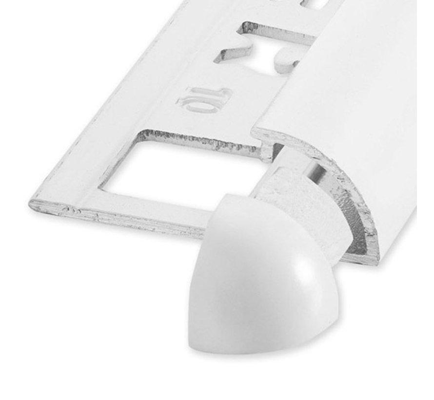 Buitenhoek RONDEX Alu rond wit 8mm 2 stk
