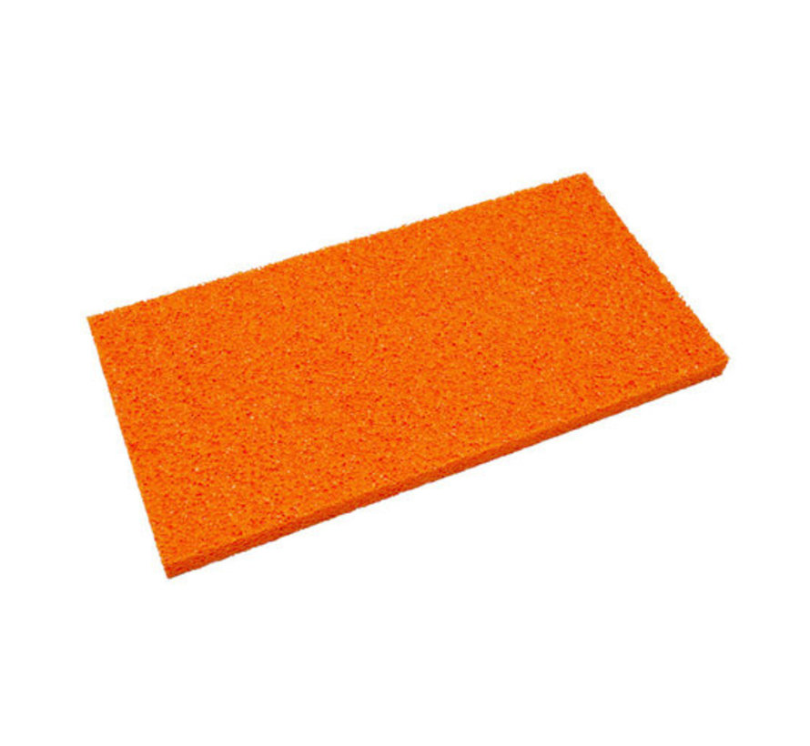 Schuurspons los oranje grof 410x210x18mm