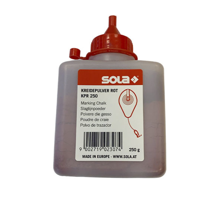 Sola Slaglijnpoeder Rood 250 gr.