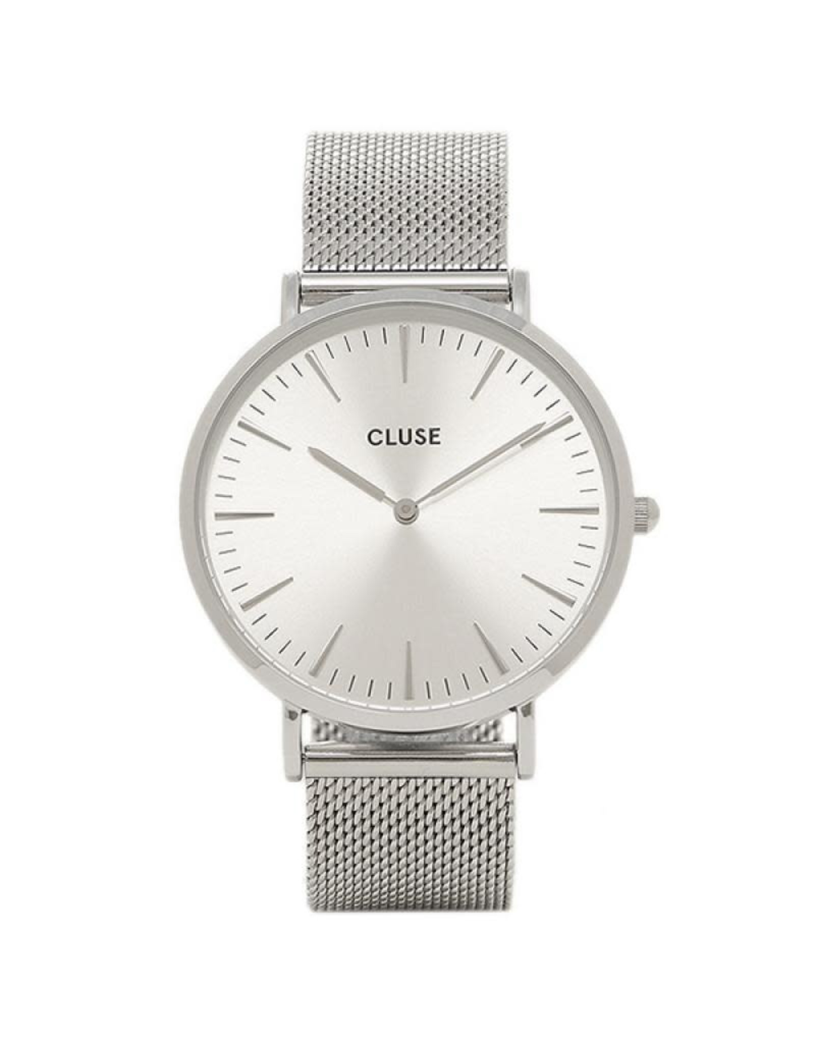 Cluse Cluse CL18114 Boho Chic Staal Mesh Band Zilver wijzerplaat 38mm