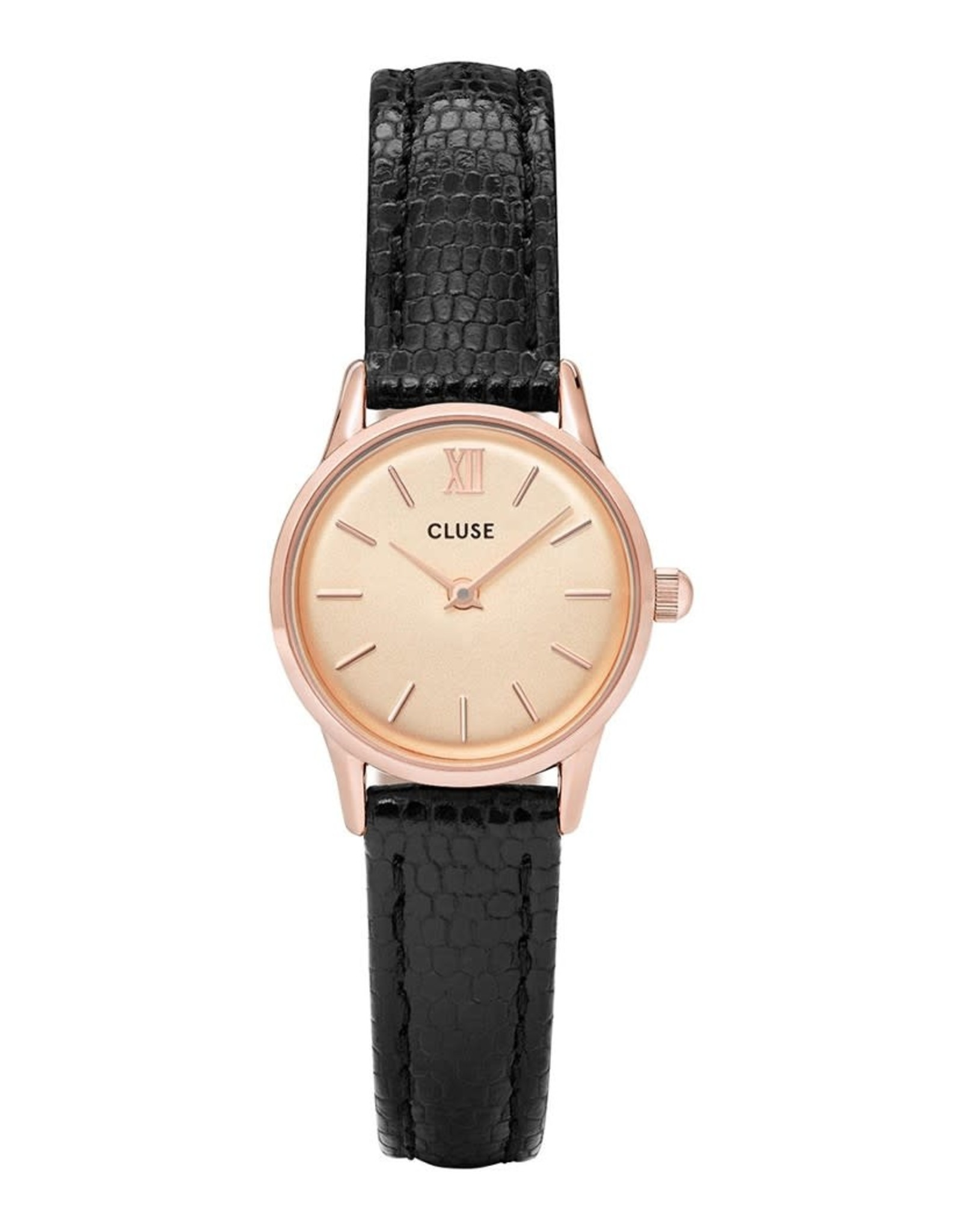 Cluse Cluse CL50028 La Vedette Staal Roos Champagne/Zwart 24mm