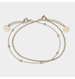 Cluse Cluse CLJ11010 Staal Goudkleur - Set van 2 armbanden