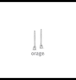 Orage Orage AK024 Oorbellen Zilver Zirkonia