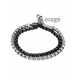 Orage Orage Armband Heren AK112 Staal