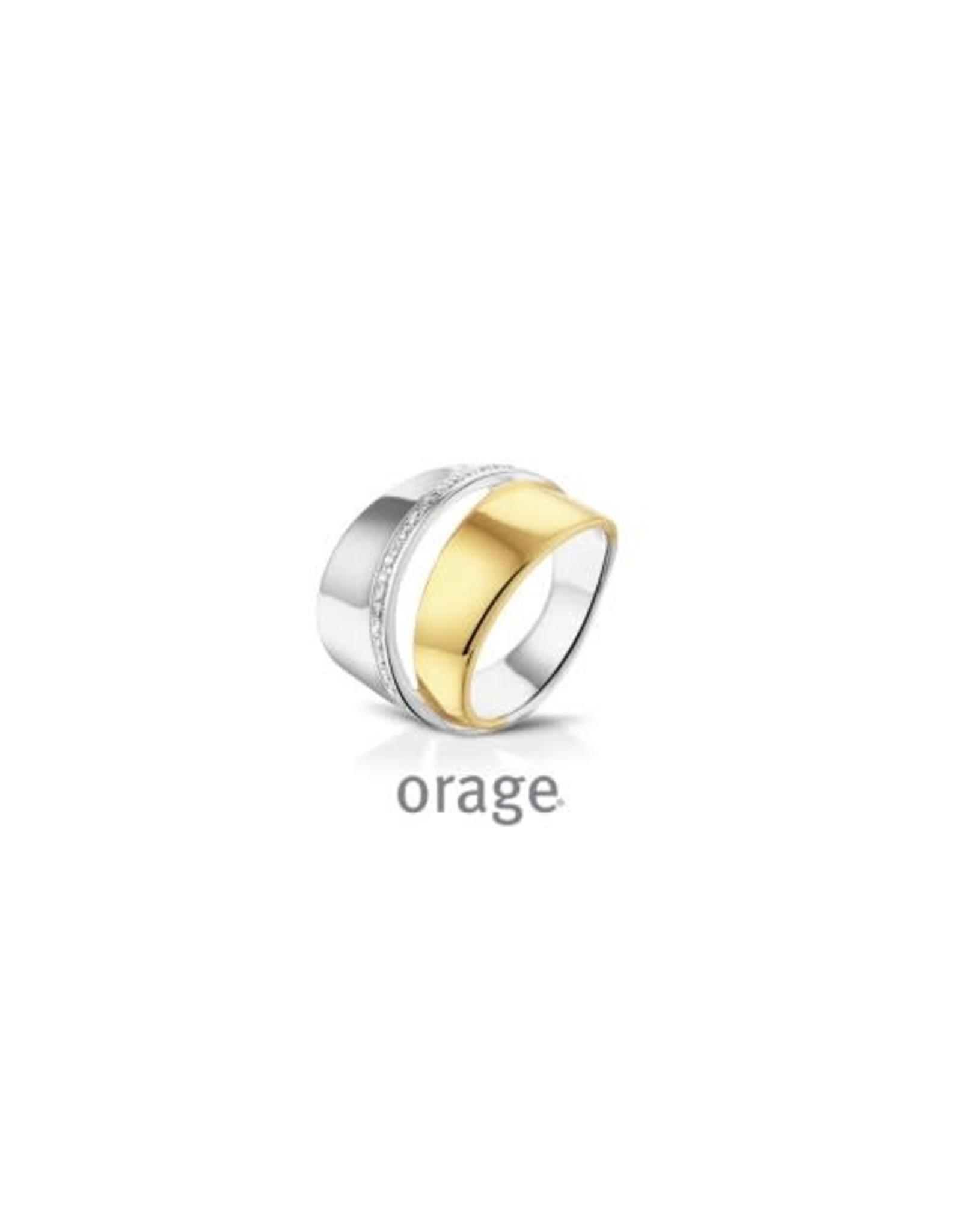 Orage Orage Ring AK124-57 Zilver Bicolor