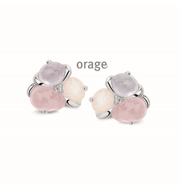 Orage Orage AL005 Oorbellen Zilver Kleurstenen