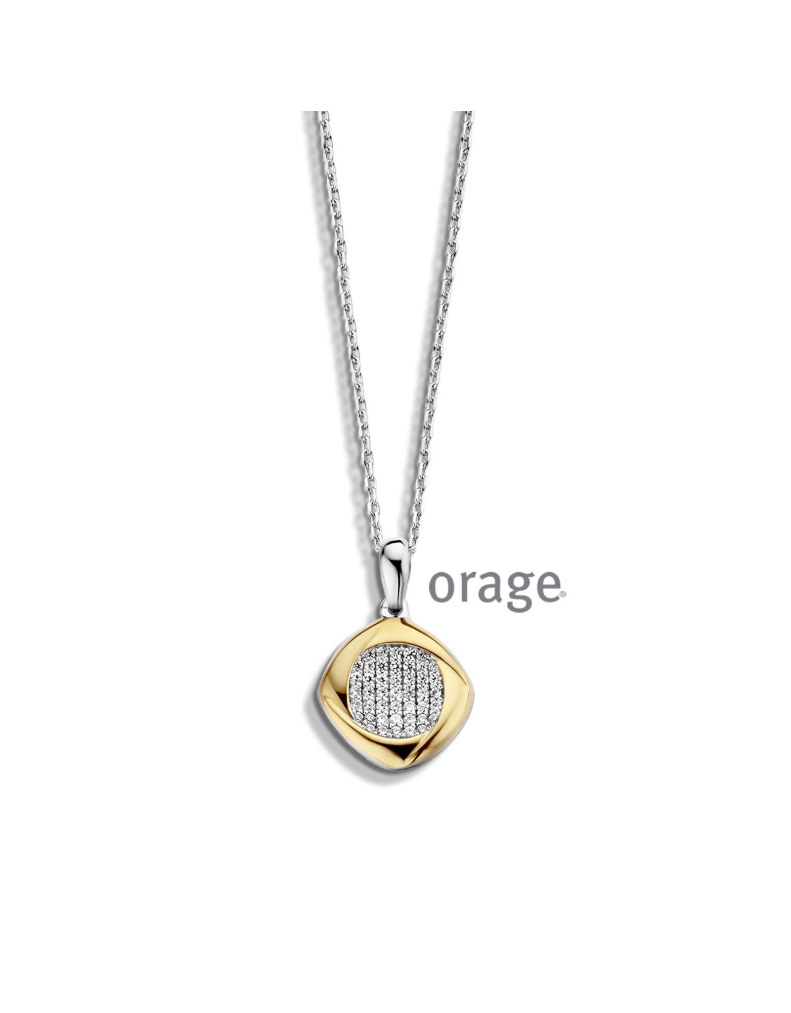 Orage Orage AM032 Halsketting Zilver Bicolor