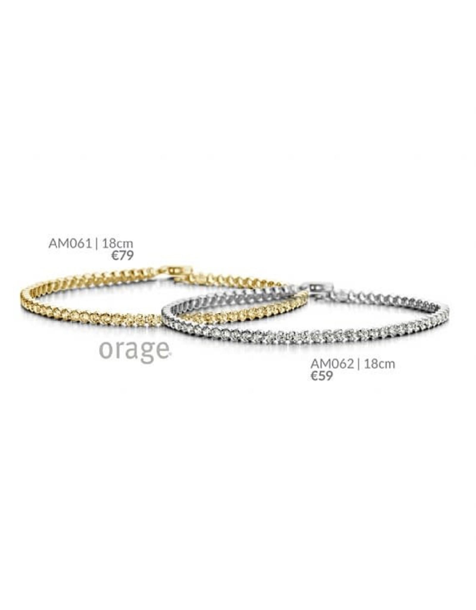Orage Orage AM061 Armband Zilver Goudkleurig