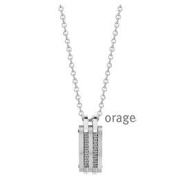 Orage Orage AM071 Halsketting Heren Staal Zwart