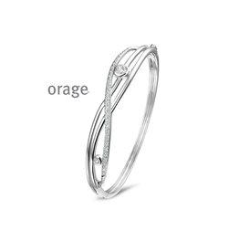 Orage Armband/Esclave AM035 Zilver Zirkonia