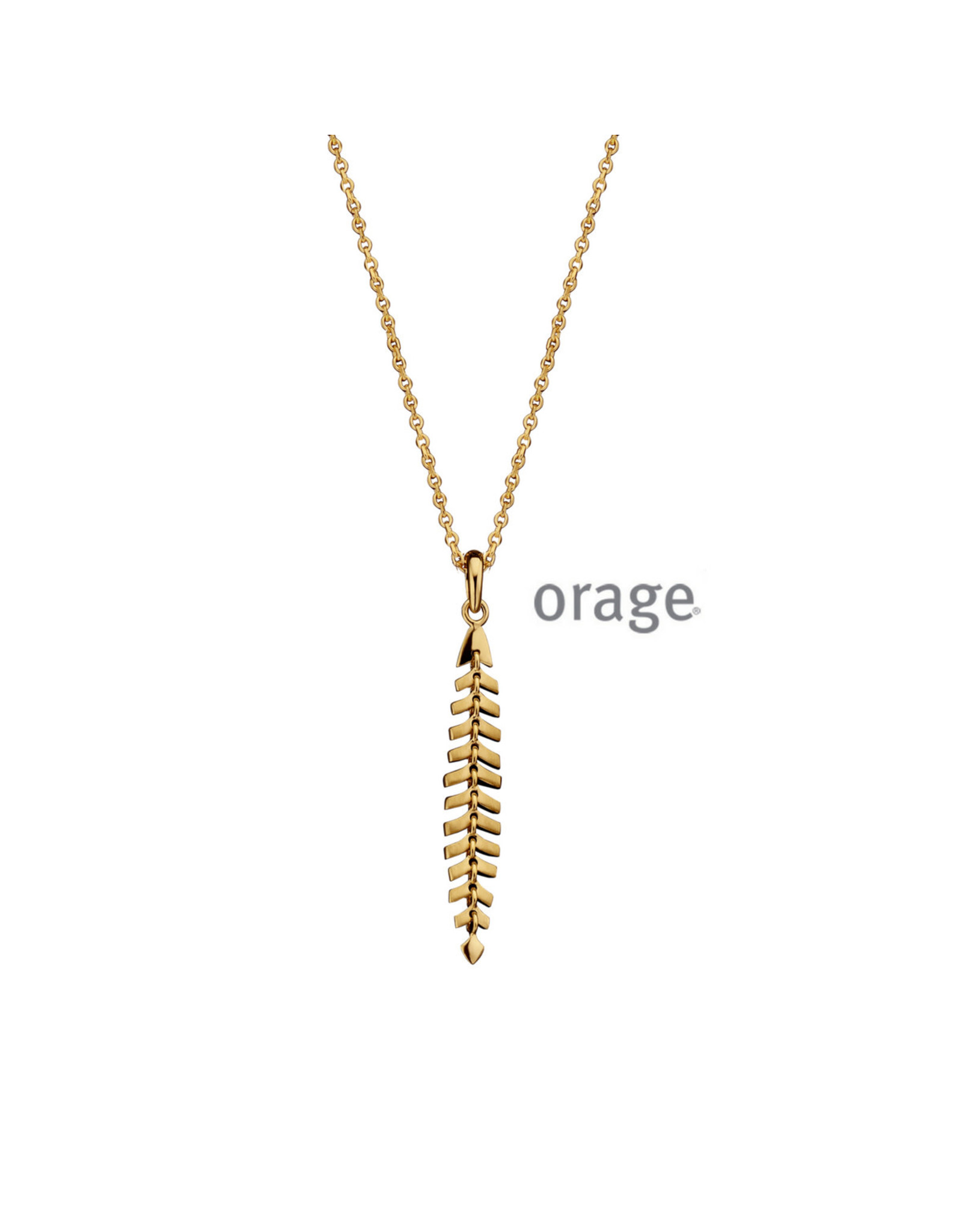 Orage Orage AM099 Halsketting Zilver Goudkleurig