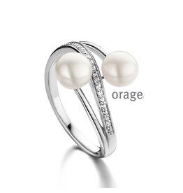 Orage Orage AM122-52 Ring Zilver Parel