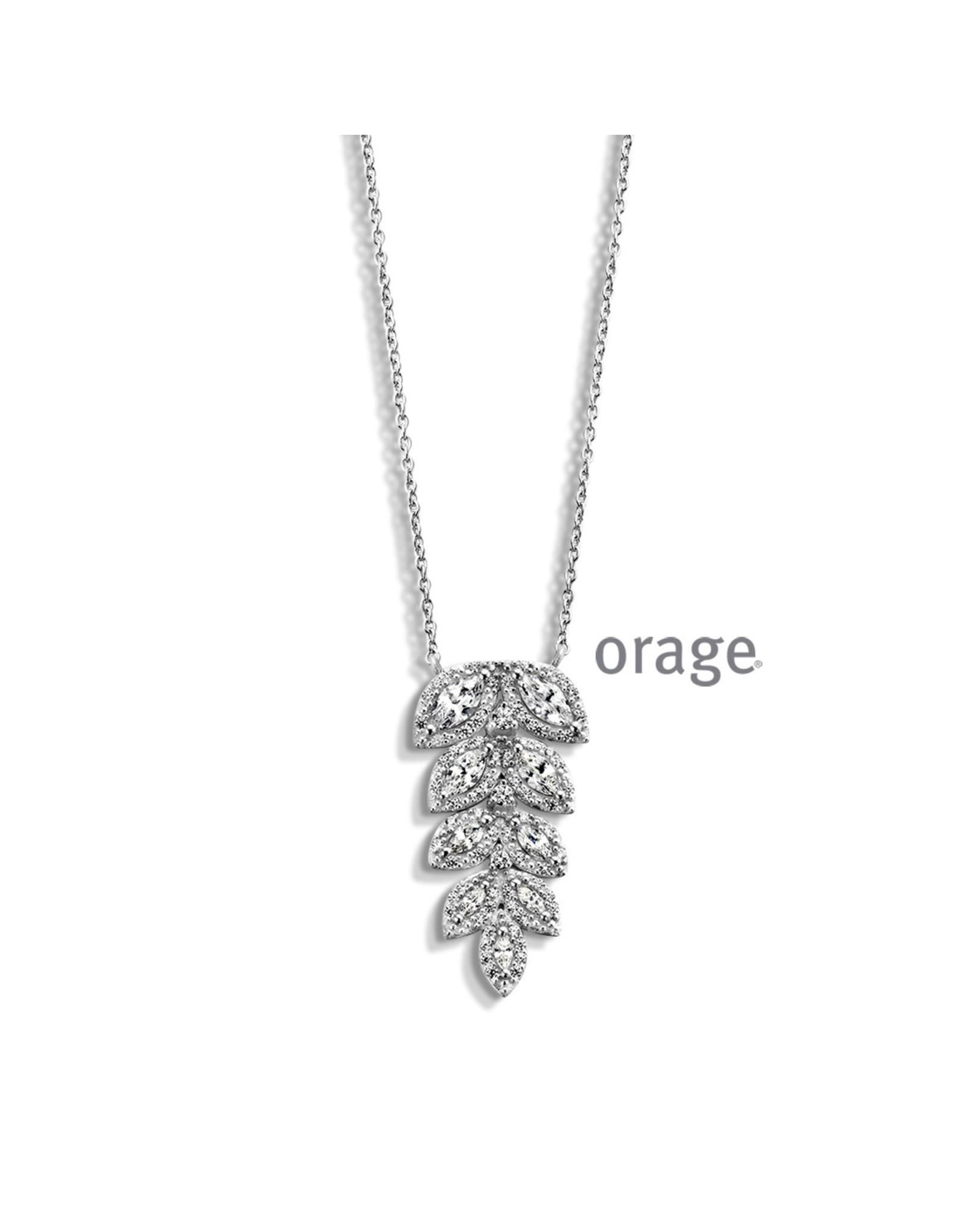 Orage Orage AM016 Halsketting Zilver Zirkonia 45cm