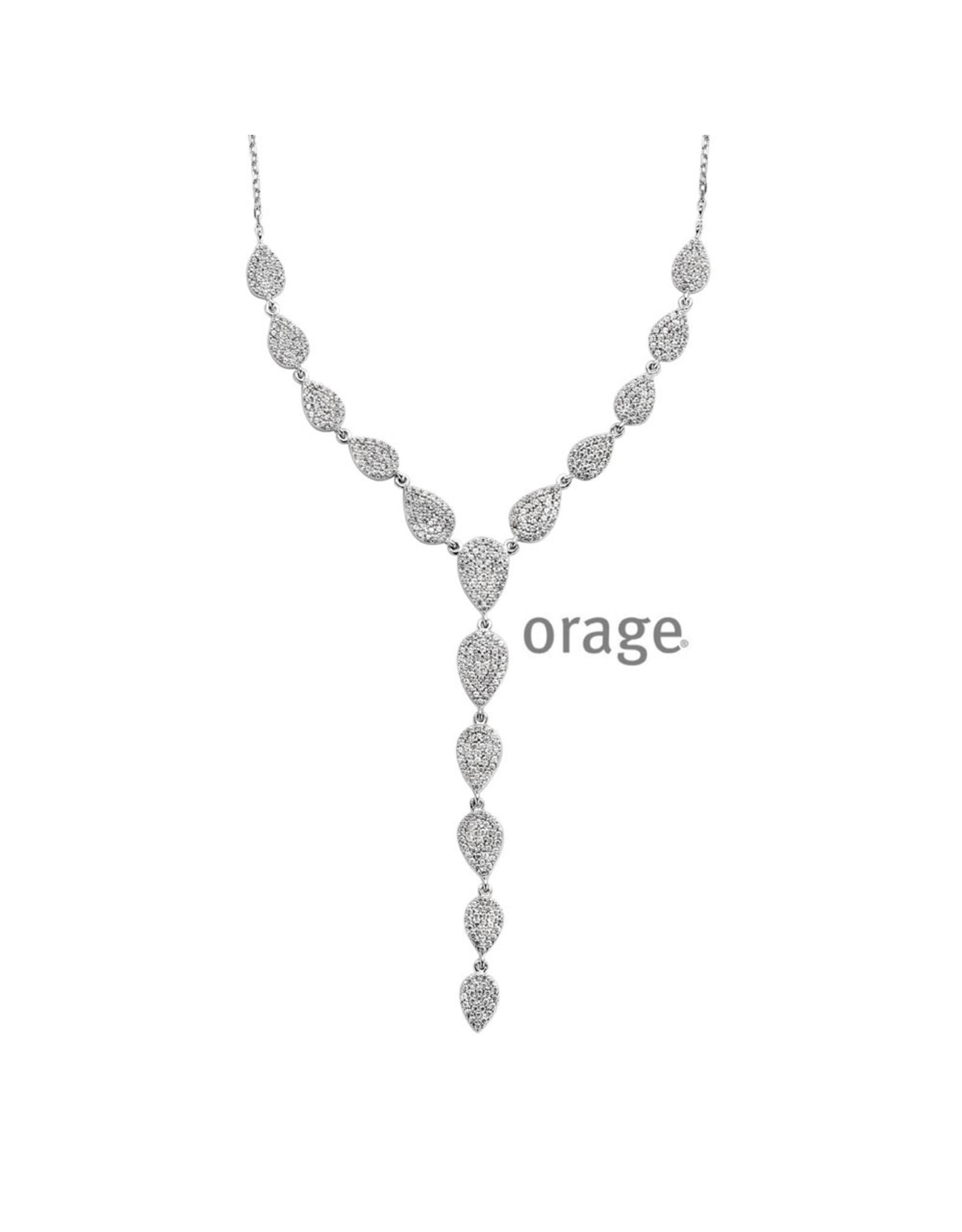 Orage Orage AN001-V1250 Halsketting Zilver Zirkonia