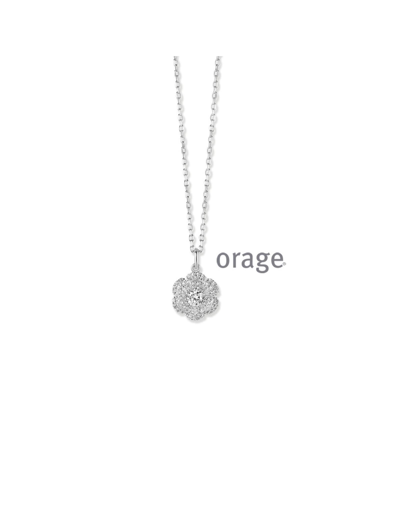 Orage Orage AN005 Halsketting Zilver Zirkonia