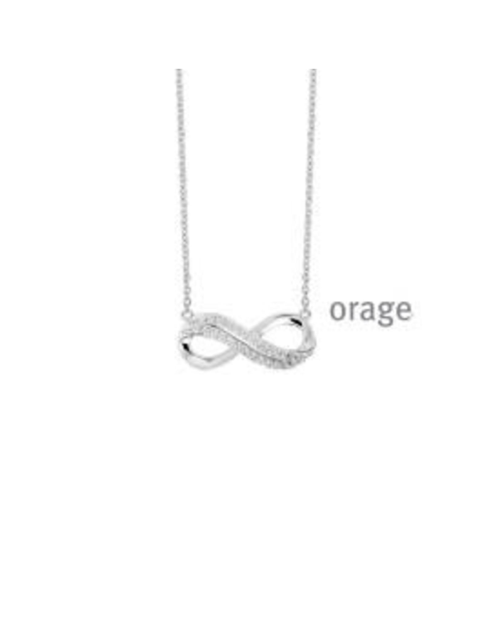 Orage Orage V1412-V1309 Halsketting Zilver Zirkonia Infinity
