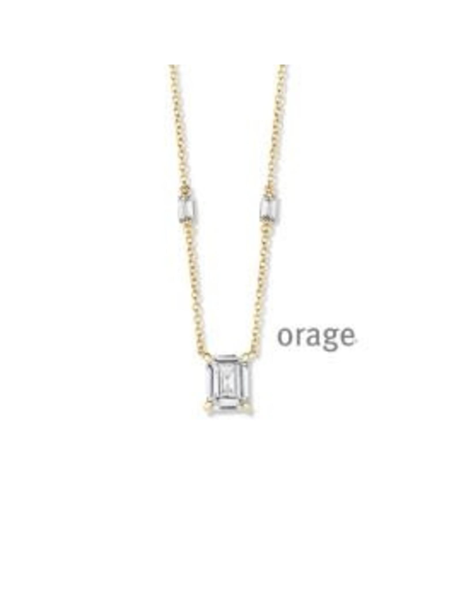 Orage Orage AN041 Halsketting Zilver Goudkleurig