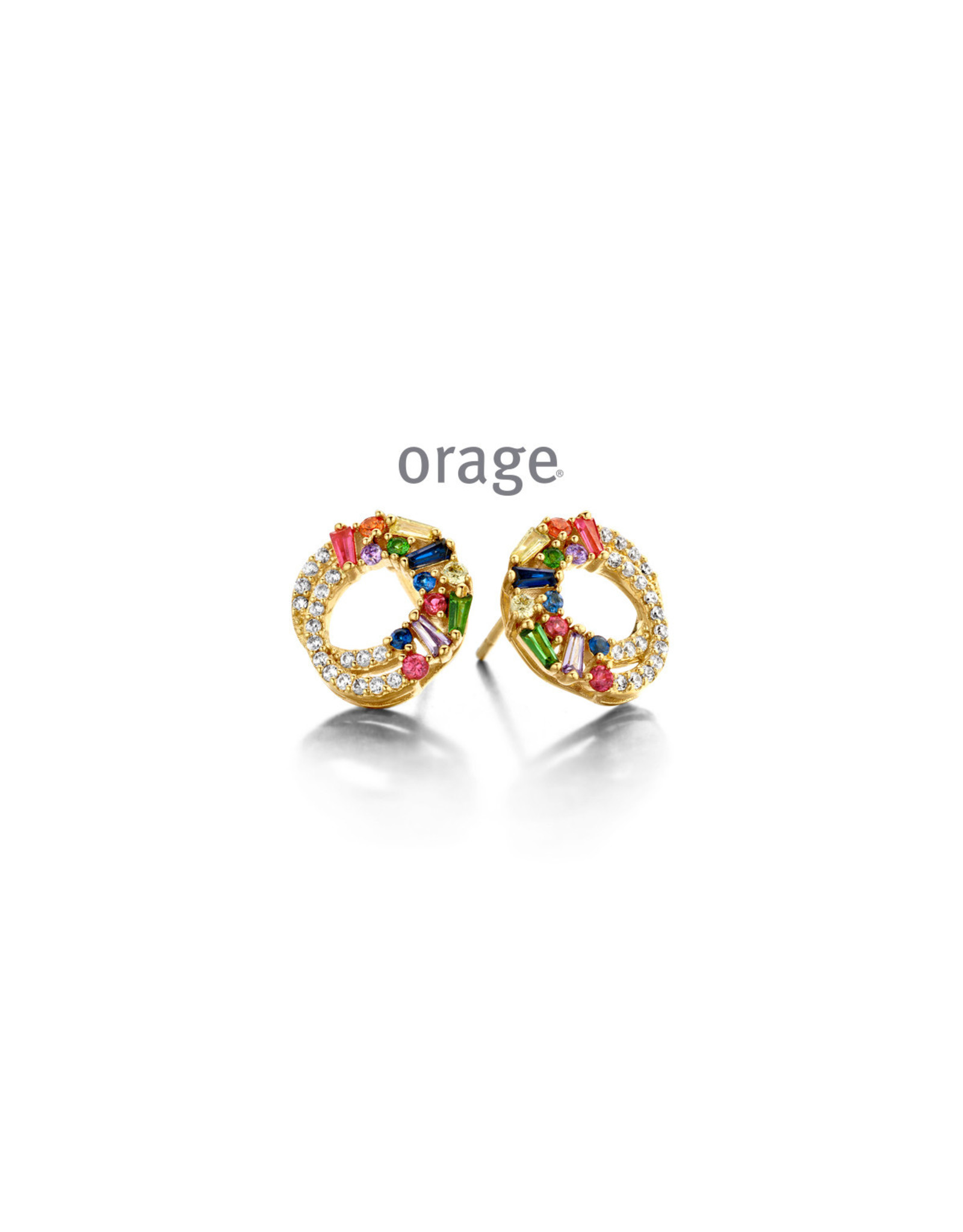 Orage Orage AP064 Oorbellen Zilver Verguld