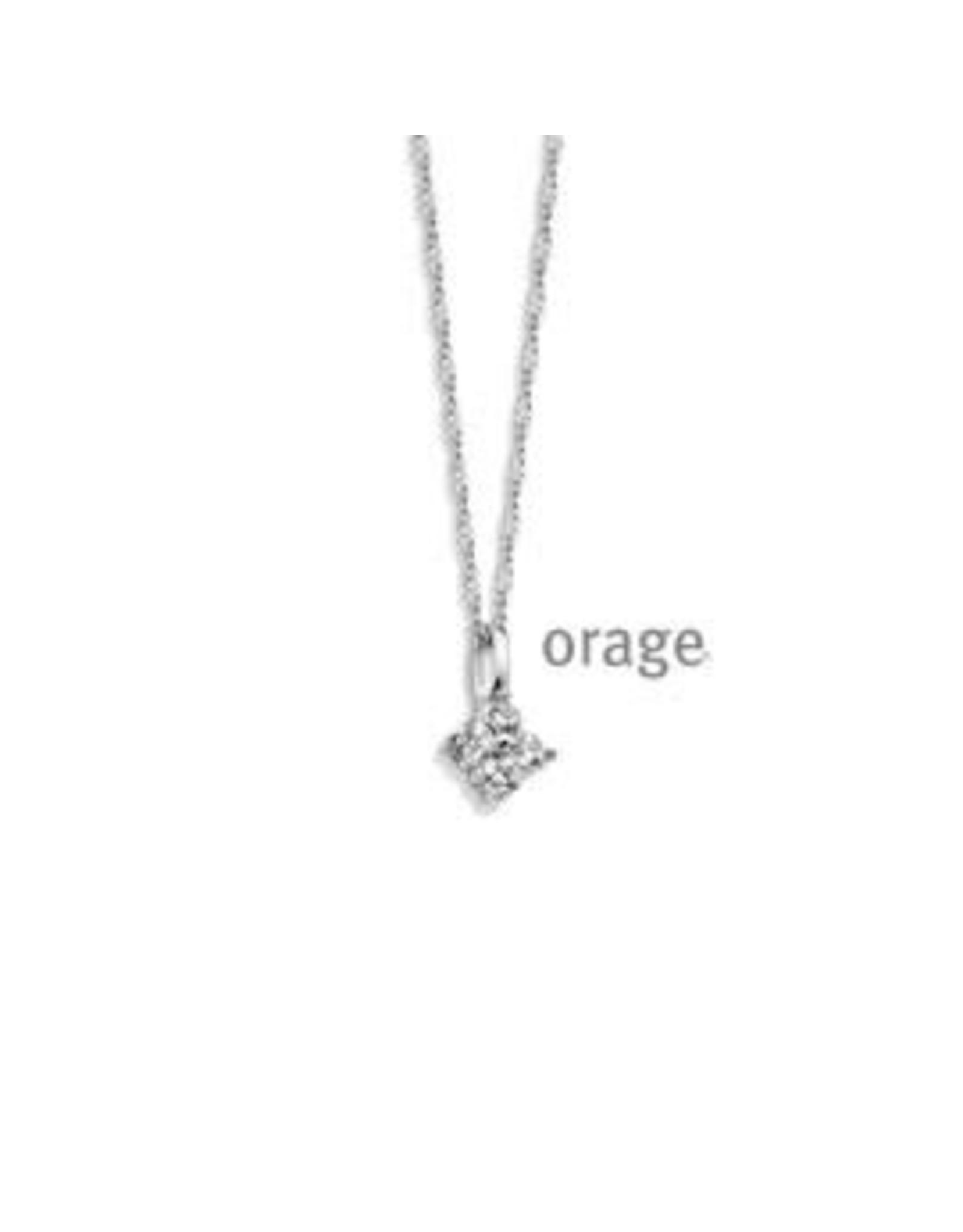 Orage Orage AP071 Halsketting Zilver