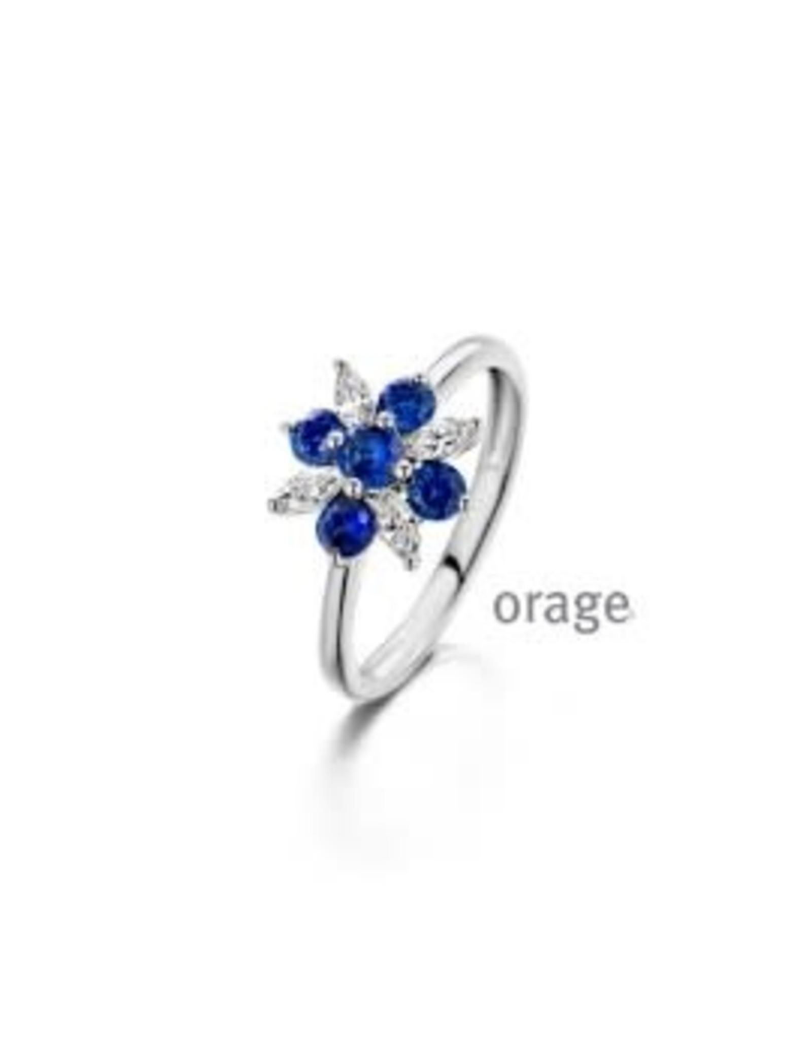 Orage Orage AP076-52 Ring Zilver Blauw