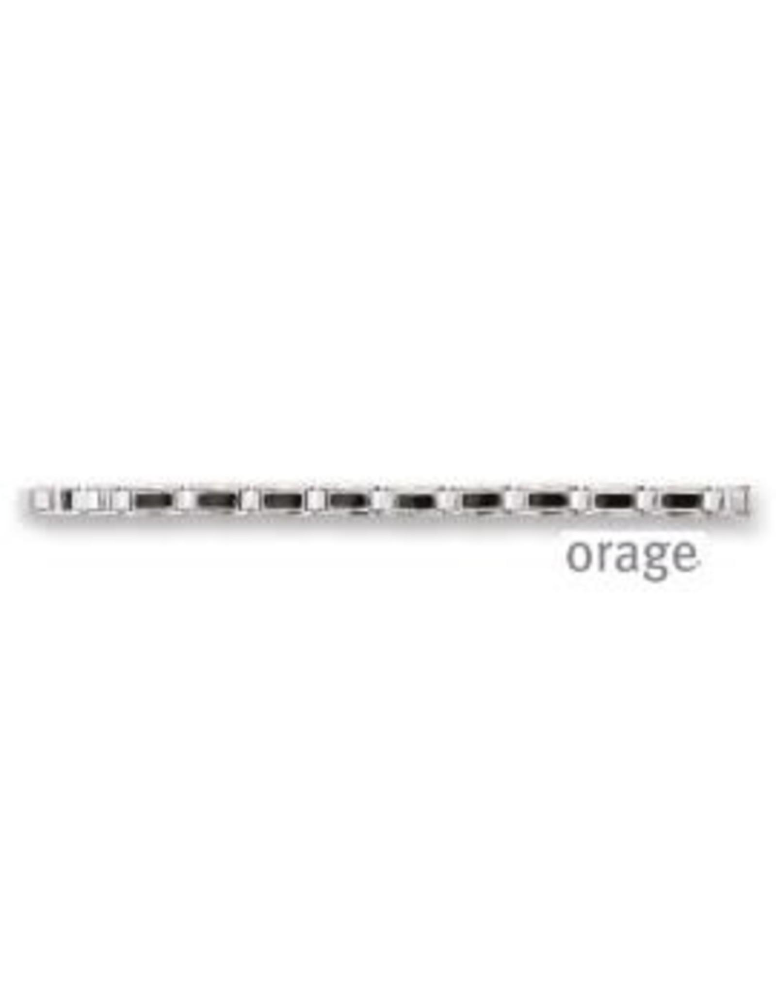 Orage Orage AP118 Armband Staal Zwart