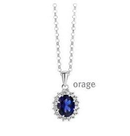 Orage Orage AP135 Halsketting Zilver Blauw