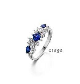 Orage Orage AP075-56 Ring Zilver Blauw
