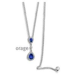Orage Orage AP130 Halsketting Zilver Blauw