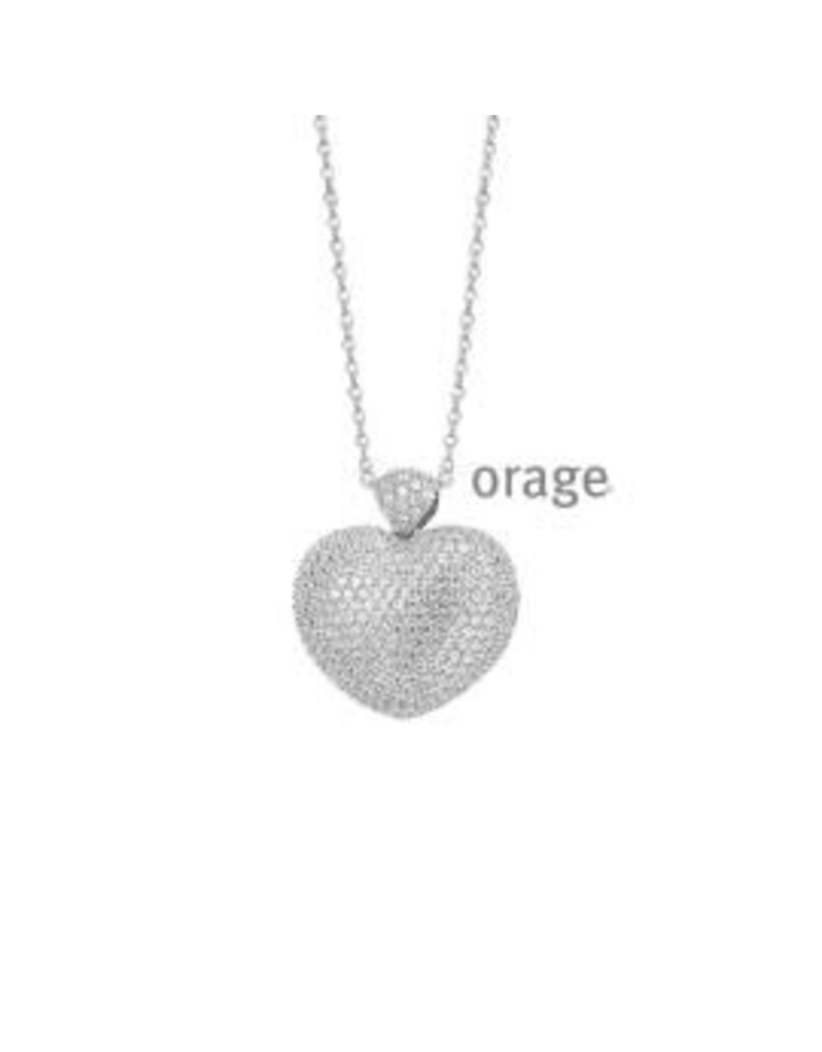 Orage Orage K/8008/43-A Halsketting Hart Zirkonia