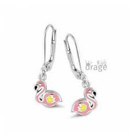 Orage Kids Oorbellen/Oorslingers Orage Kids K1639 Flamingo Zilver