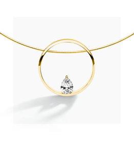 FJF Jewellery Halsketting FJF0010002YWH Zilver Goud Verguld