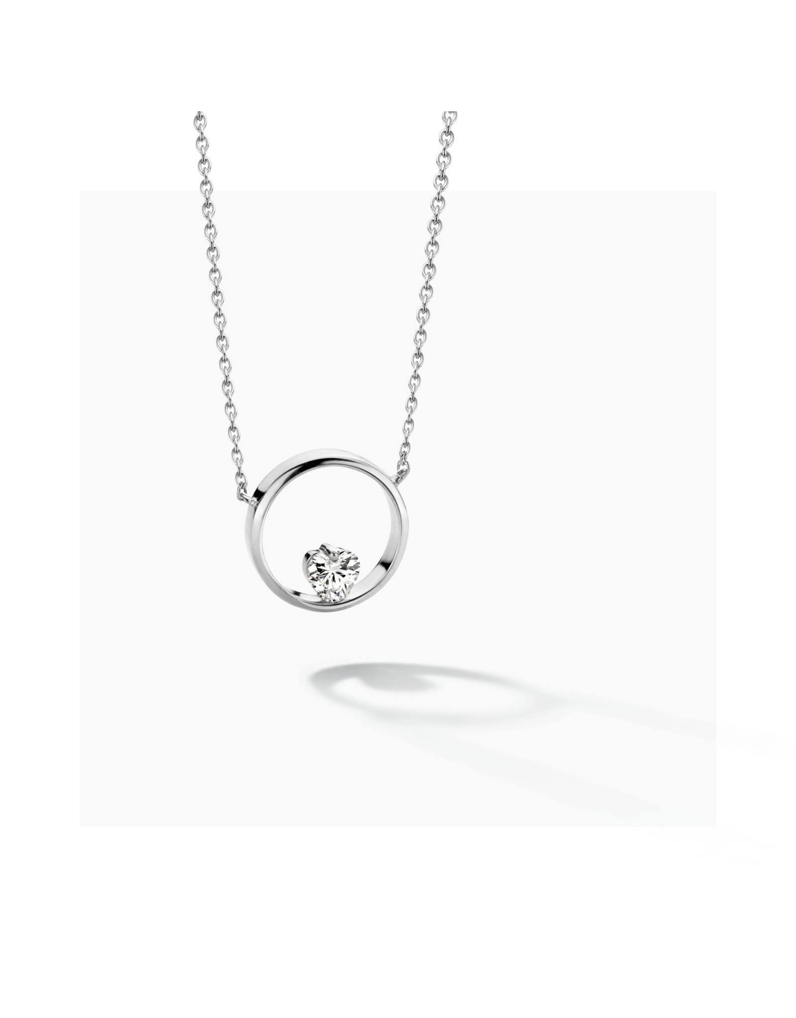 FJF Jewellery Halsketting FJF0010005SWH Icon Heart Silver 925