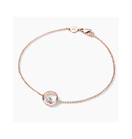 FJF Jewellery Armband FJF0050001RWH Zilver Roos Goud Verguld