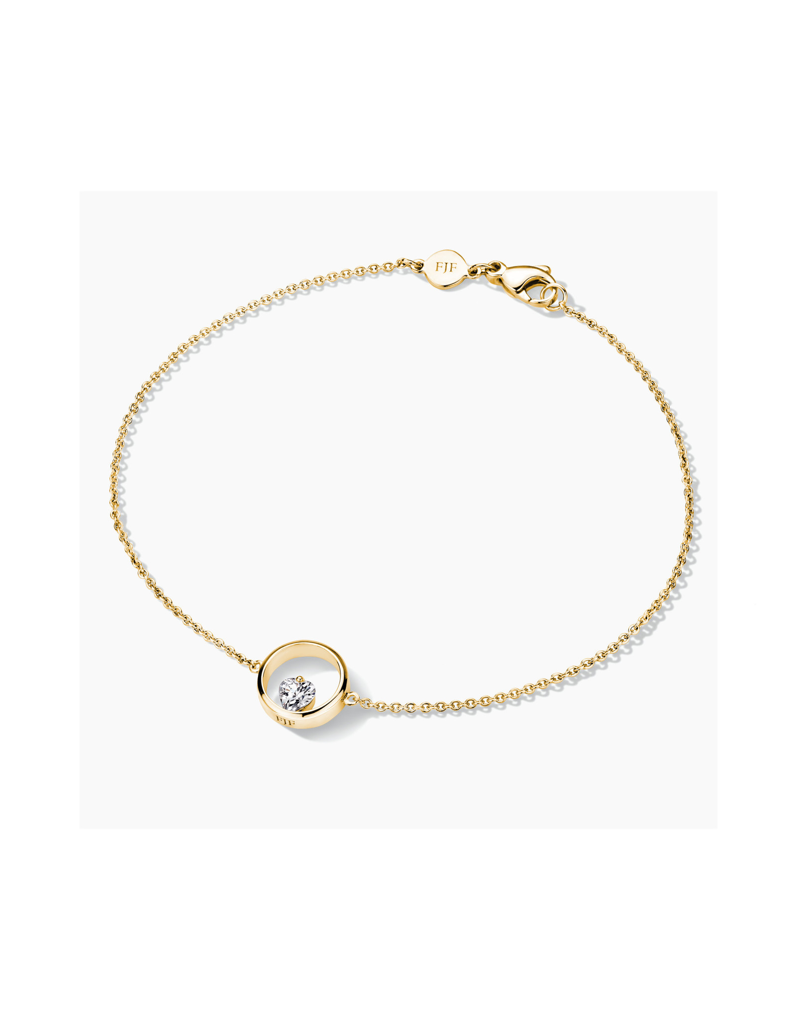 FJF Jewellery Armband FJF0050001YWH Zilver Goud Verguld Icon Heart