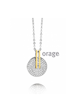 Orage Orage AH030 Halsketting Bicolor Zilver Goudkleurig