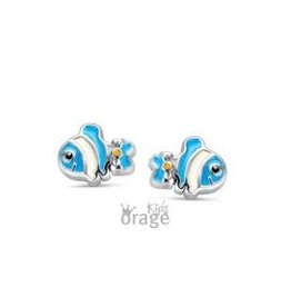 Orage Kids Oorbellen Orage Kids K1889 Vis Blauw Zilver