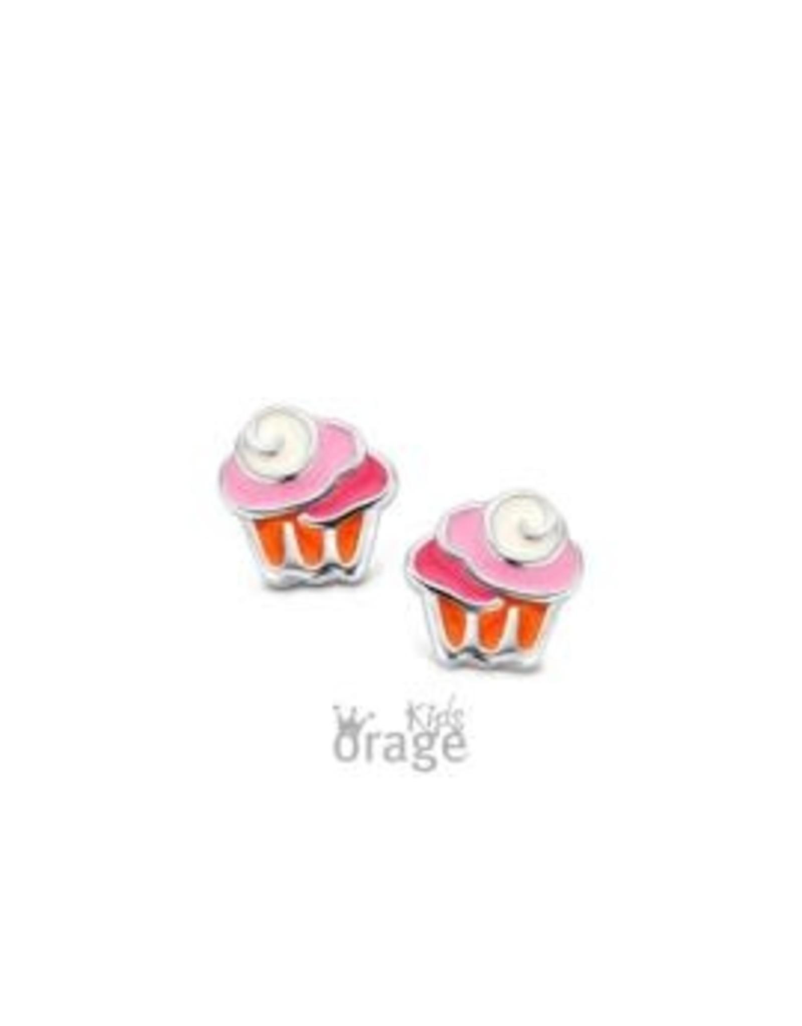 Orage Kids Oorbellen Orage Kids K1959 Cupcake Rood Roos Zilver