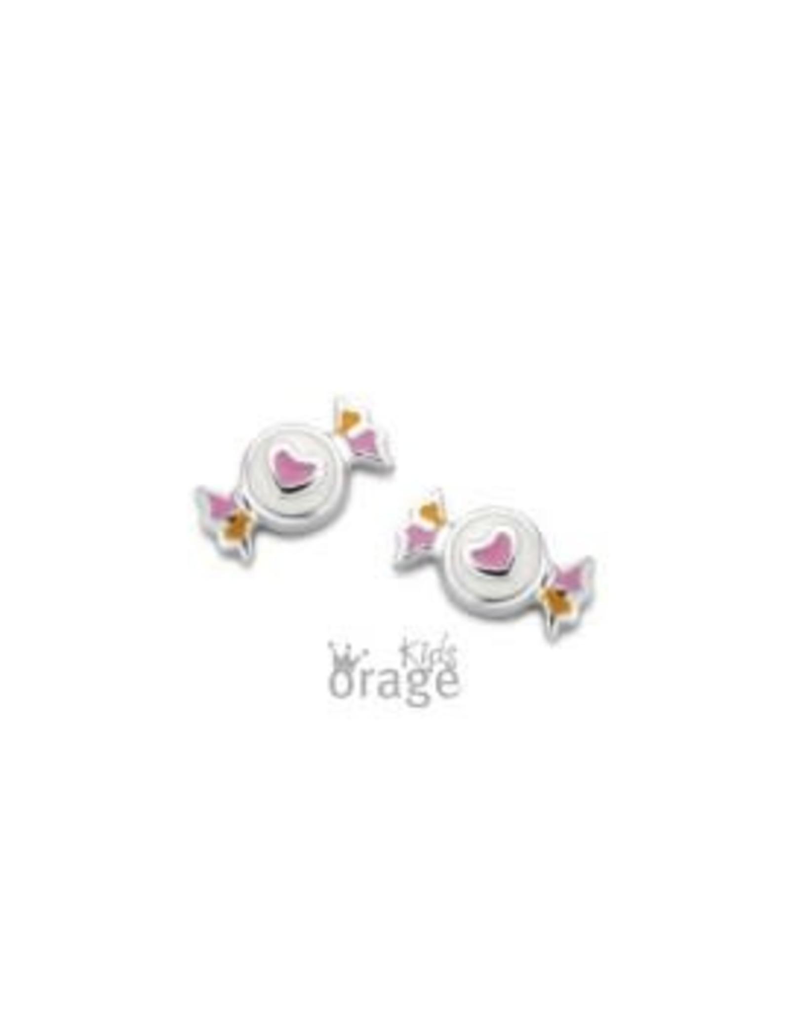 Orage Kids Oorbellen Orage Kids K2072 Snoepje Roze Geel Zilver
