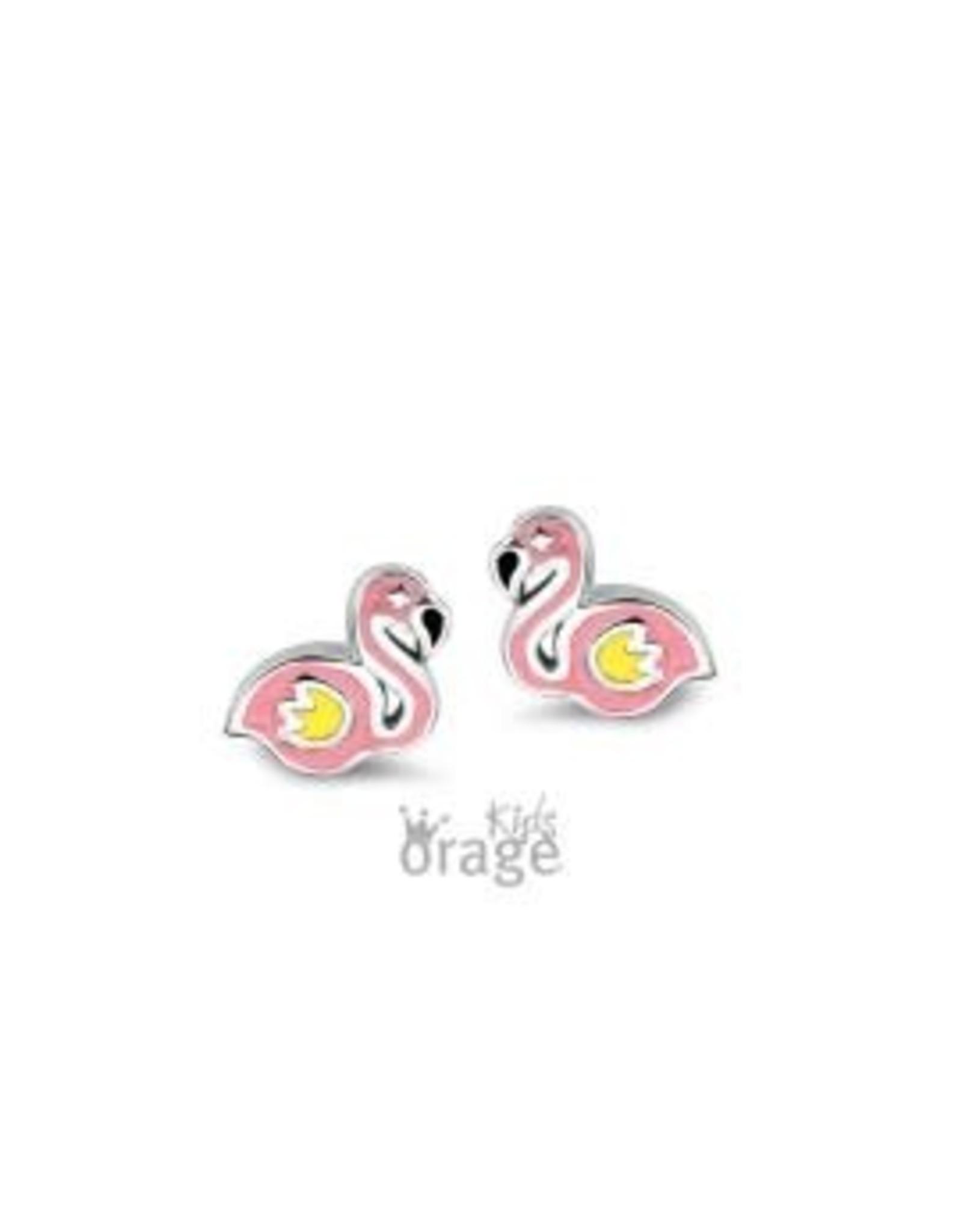 Orage Kids Oorbellen Orage Kids K1976 Flamingo Roos Zilver