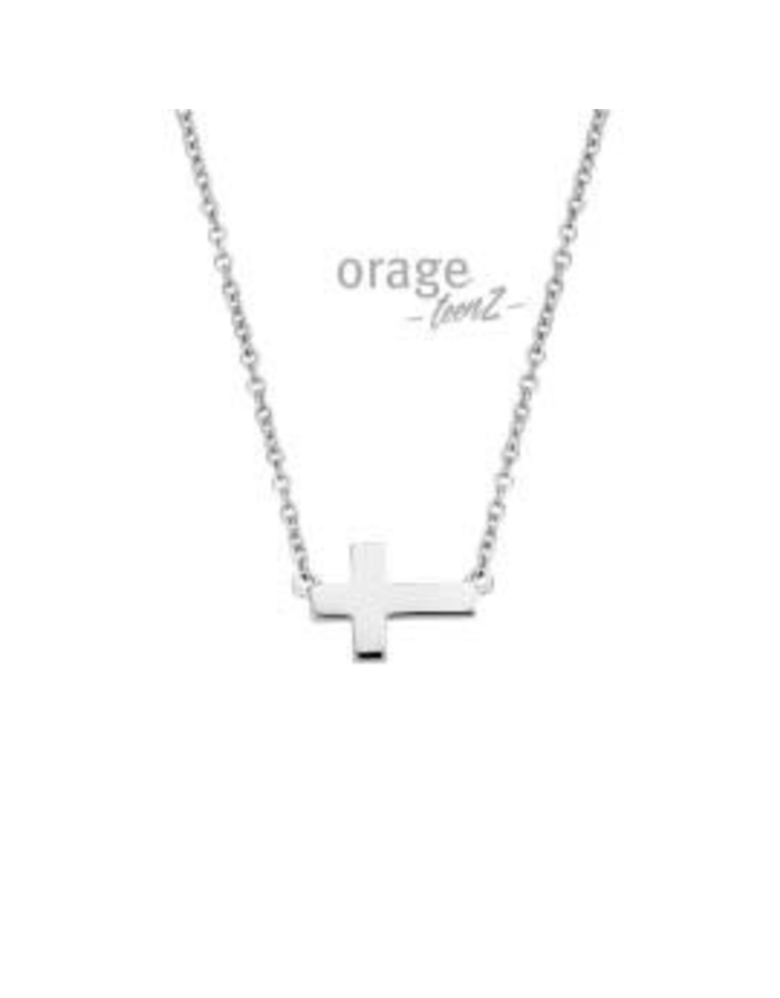 Orage Teenz Orage Teenz T342 Halsketting Zilver Kruis